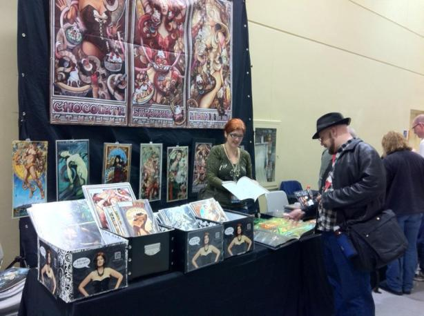 My Booth L10-11 at Emerald City Comic Con 2012